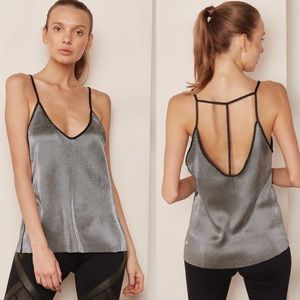 VIMMIA Reversible silver camisole tank top NWT